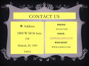 HIALEAH INCOME TAX CONTACT INFORMATION