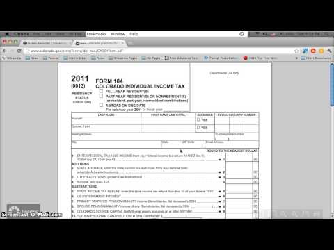 Colorado Printable Tax Forms 2012 Form 104 Online Printable Or